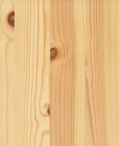 Oberflächen-Mustertafel Massivholz Kiefer astig lackiert