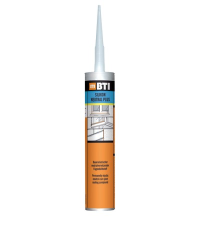 BTI Silikon Neutral plus weiss weiß 310 ml Kartusche