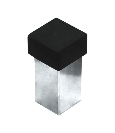 Türstopper Türfeststeller quadratisch Edelstahl matt Höhe 56mm