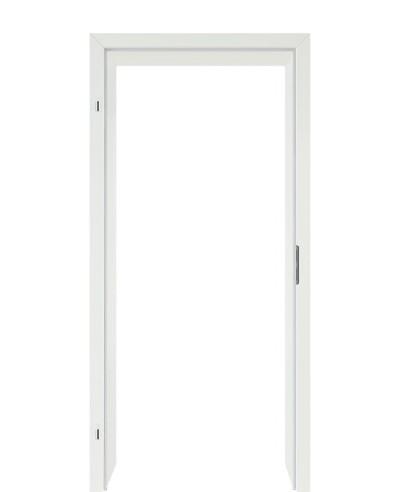 Türzarge / Zarge CPL Uni weiß (Weiss) mit 60mm Designkante