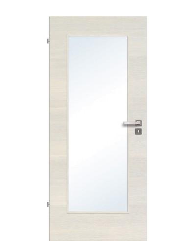 Zimmertür / Innentür Livido Fineline quer strukturiert/gebürstet CPL großer Lichtausschnitt LA1