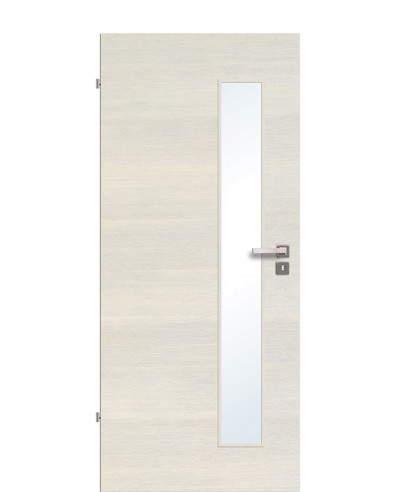 Zimmertür / Innentür Livido Fineline quer strukturiert/gebürstet CPL schmaler Lichtausschnitt LA S
