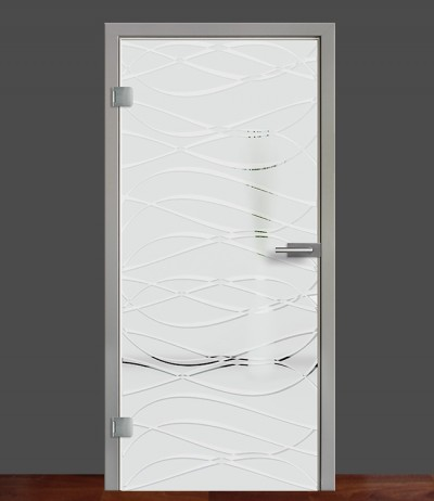 Zimmertür Innentür Türblatt Ganzglastür Glastür Glas Tür 8mm ESG 3D Motiv Vasti 72