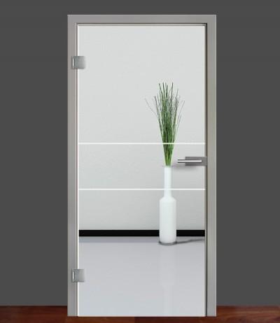 Zimmertür Innentür Türblatt Ganzglastür Glastür Glas Tür Sandstrahlmotiv Sond 21
