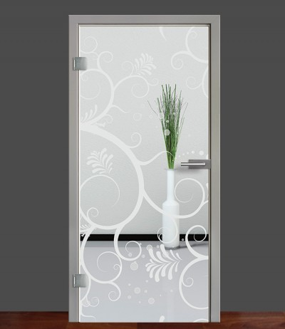 Zimmertür Innentür Türblatt Ganzglastür Glastür Glas Tür Sandstrahlmotiv Sond 38