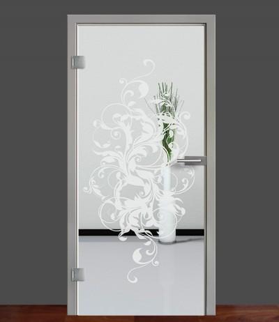 Zimmertür Innentür Türblatt Ganzglastür Glastür Glas Tür Sandstrahlmotiv Sond 39