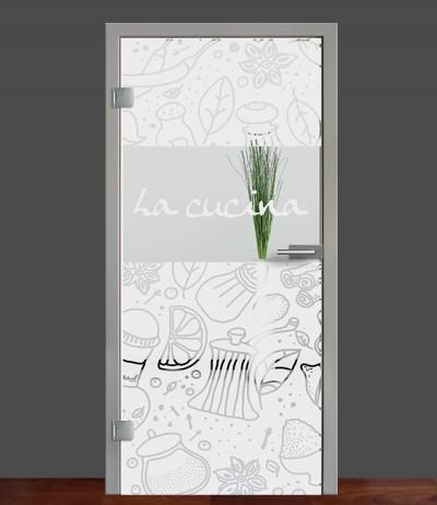 Zimmertür Innentür Türblatt Ganzglastür Glastür Glas Tür Sandstrahlmotiv Sond 53