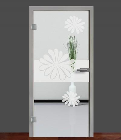 Zimmertür Innentür Türblatt Ganzglastür Glastür Glas Tür Sandstrahlmotiv Sond 57