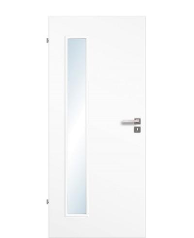 Zimmertür / Innentür Uni-weiß CPL großer Lichtausschnitt LA B