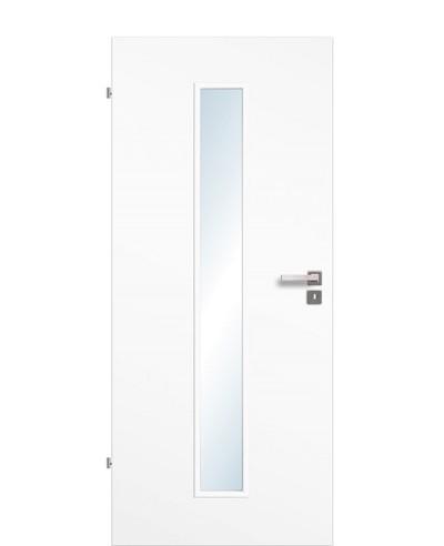 Zimmertür / Innentür Uni-weiß CPL großer Lichtausschnitt LA M
