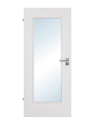 Zimmertür / Innentür Uni-grau CPL Lichtausschnitt LA 1