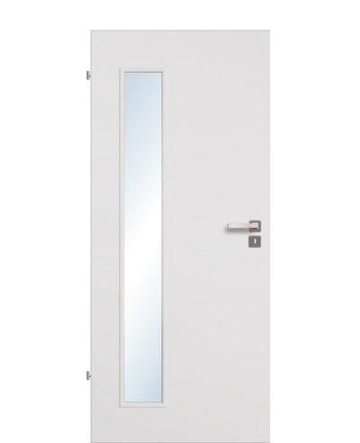 Zimmertür / Innentür Uni-grau CPL Lichtausschnitt LA B