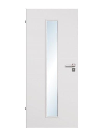 Zimmertür / Innentür Uni-grau CPL Lichtausschnitt LA M