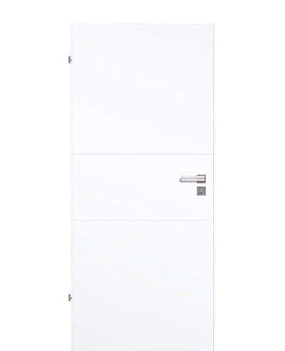 Designtür / Innentür Weißlack 9003 mit zwei Querstreifen 211,0cm