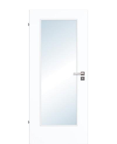 Innentür / Zimmertür Weißlack 9003 CPL großer Lichtausschnitt LA1 198,5cm