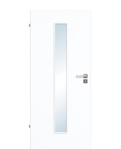 Innentür / Zimmertür Weißlack 9003 CPL schmaler Lichtausschnitt LA M 198,5cm