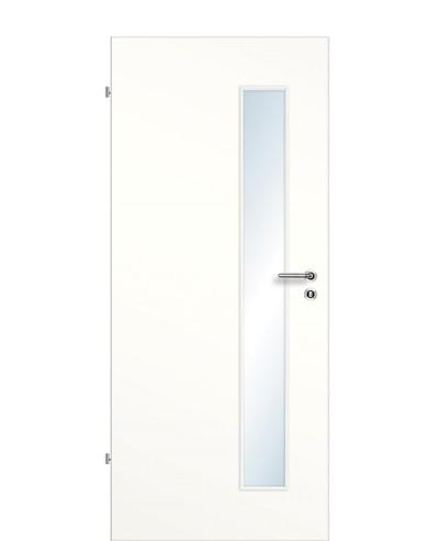Zimmertür / Innentür Weißlack 9010 CPL Lichtausschnitt LA S