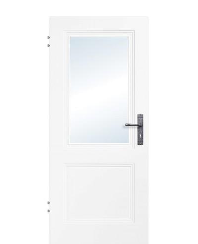 Zimmertür / Innentür Weißlack 9010 Lichtausschnitt 2G LA