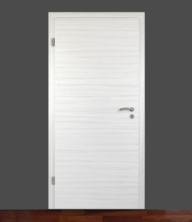 Zimmertür mit Zarge CPL Eiche-Platinweiß gebürstet