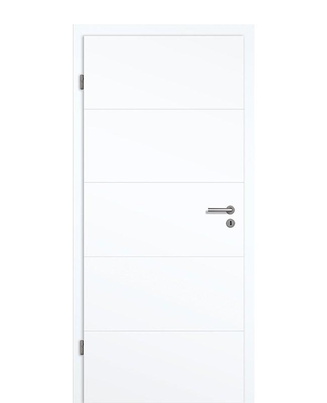 Bekannt Innentür Weiß 9003 4-Streifen quer mit 70mm-DK Zarge HA34