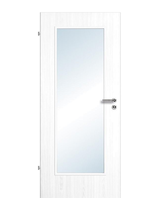 Extrem Zimmertüren / Innentüren Esche-weiß CPL großer Lichtausschnitt RK LX39