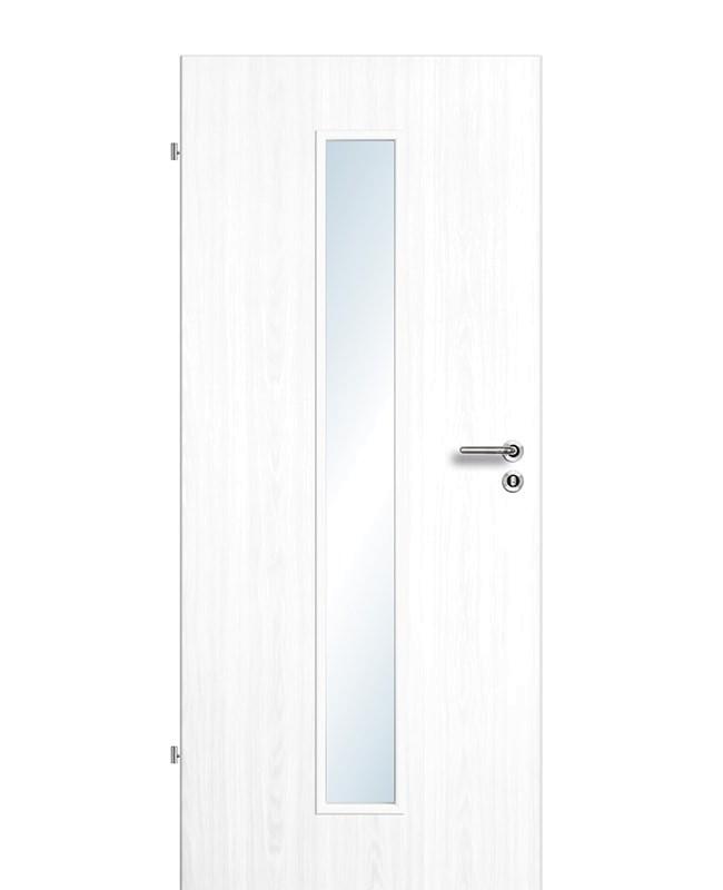 Zimmertür / Innentür Esche-weiß CPL Lichtausschnitt LA M