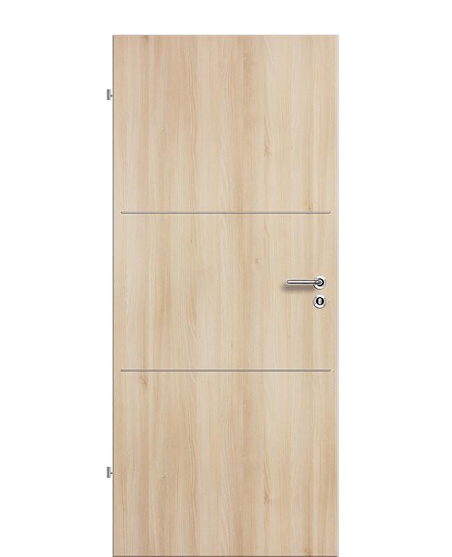 Lisenen Zimmertür / Innentür CPL Akazie aufliegend