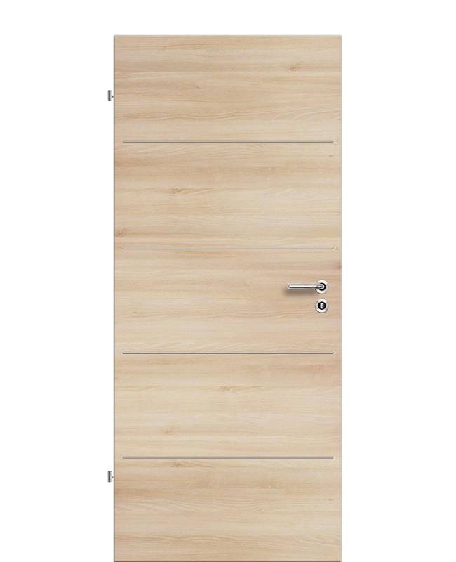 Lisenen Zimmertür / Innentür CPL Akazie-quer aufliegend