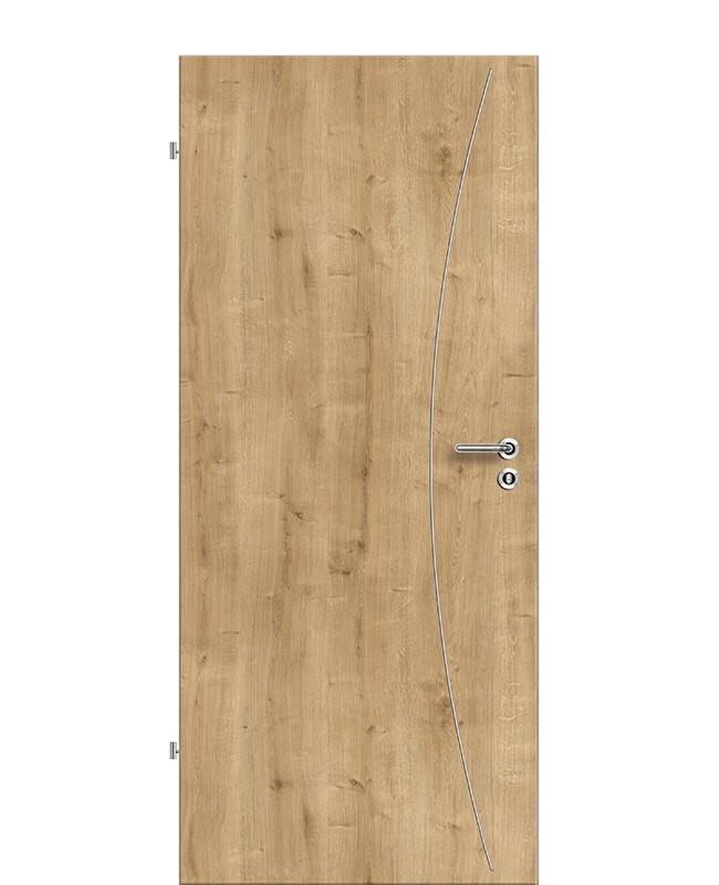 Lisenen Zimmertür / Innentür CPL Eiche-astig aufliegend