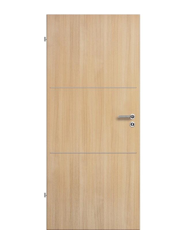 Lisenen Zimmertür / Innentür CPL Eiche-roheffekt aufliegend