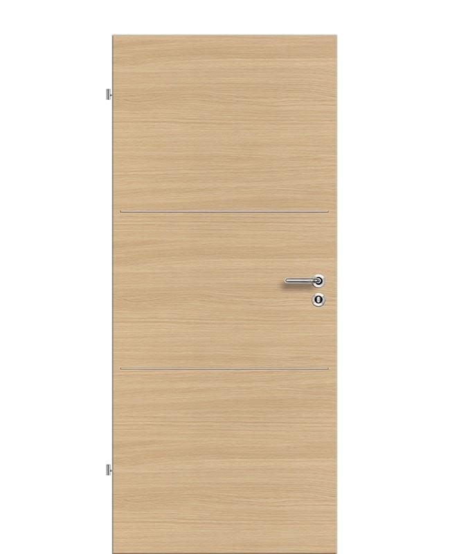 Lisenen Zimmertür / Innentür CPL Eiche-roheffekt-quer aufliegend