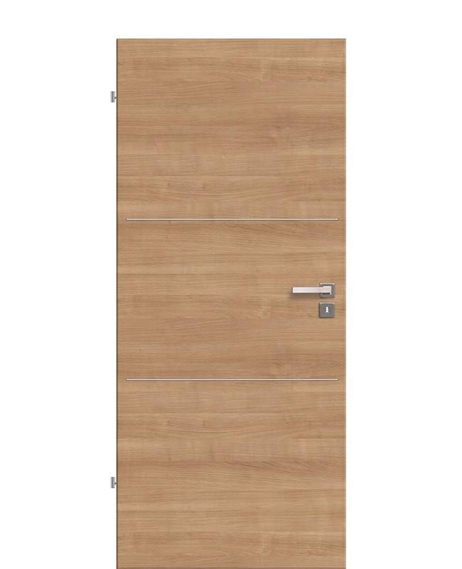 Lisenen Innentür / Zimmertür CPL Noce-quer aufliegend