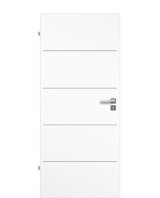 Lisenen Innentür / Zimmertür CPL Uni-weiß aufliegend