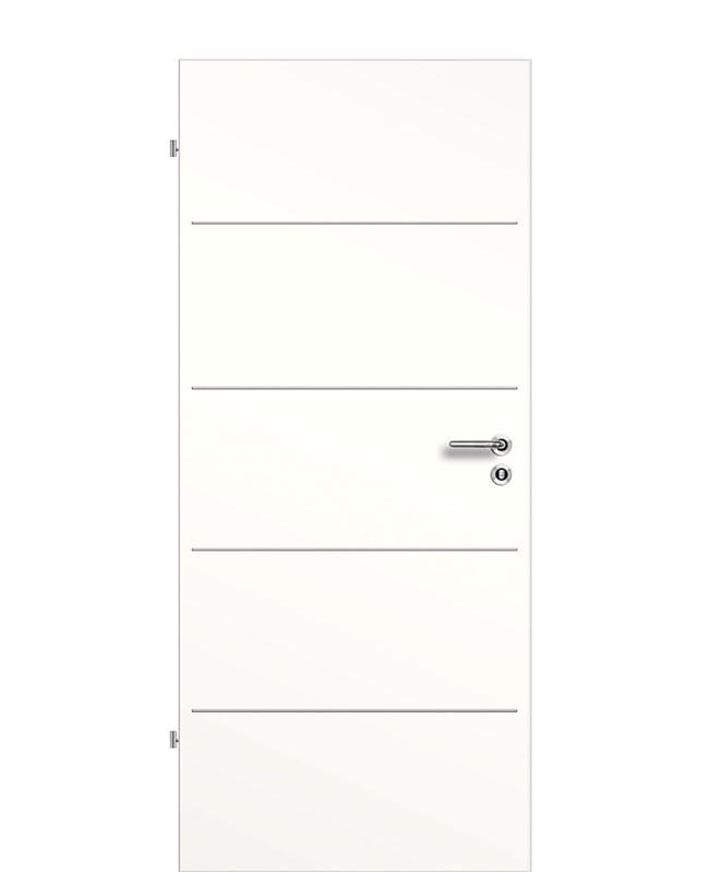 Lisenen Innentür / Zimmertür CPL Weißlack 9010 aufliegend