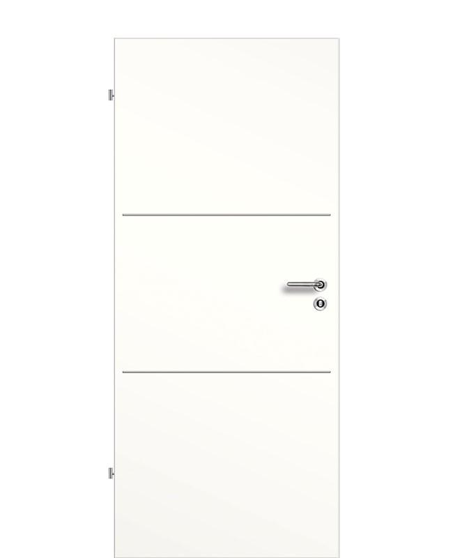 Lisenen Innentür / Zimmertür CPL Weißlack 9010 flächenbündig