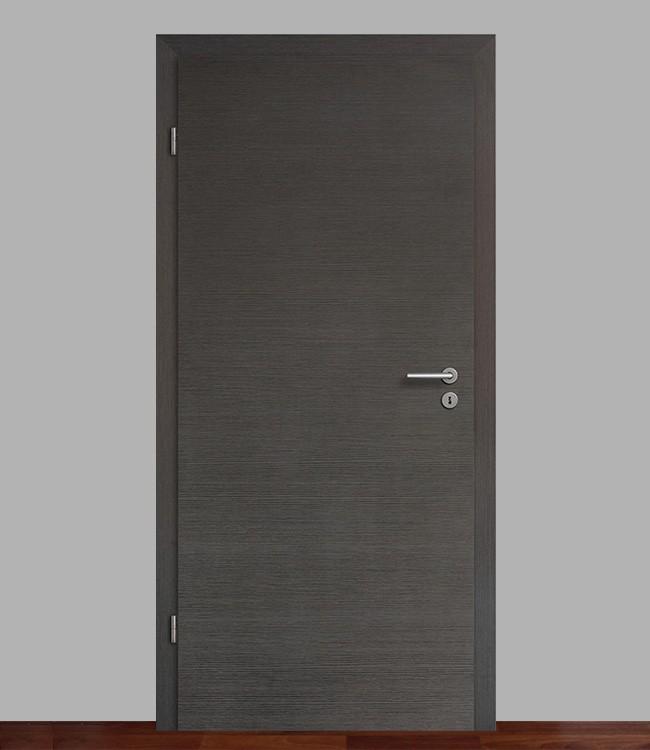 zimmert r set eiche graphit quer mit 75mm zarge cpl geb rstet. Black Bedroom Furniture Sets. Home Design Ideas