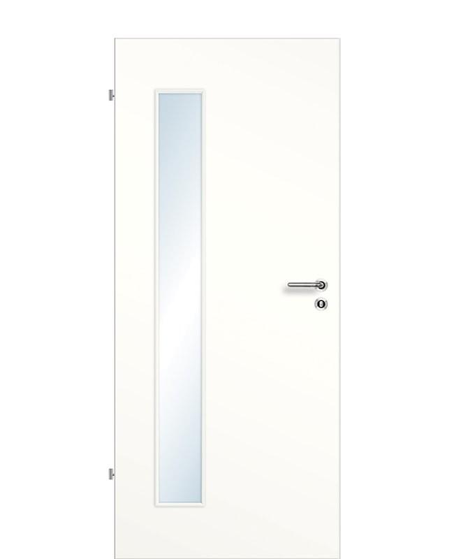 Zimmertür / Innentür Weißlack 9010 CPL Lichtausschnitt LA B