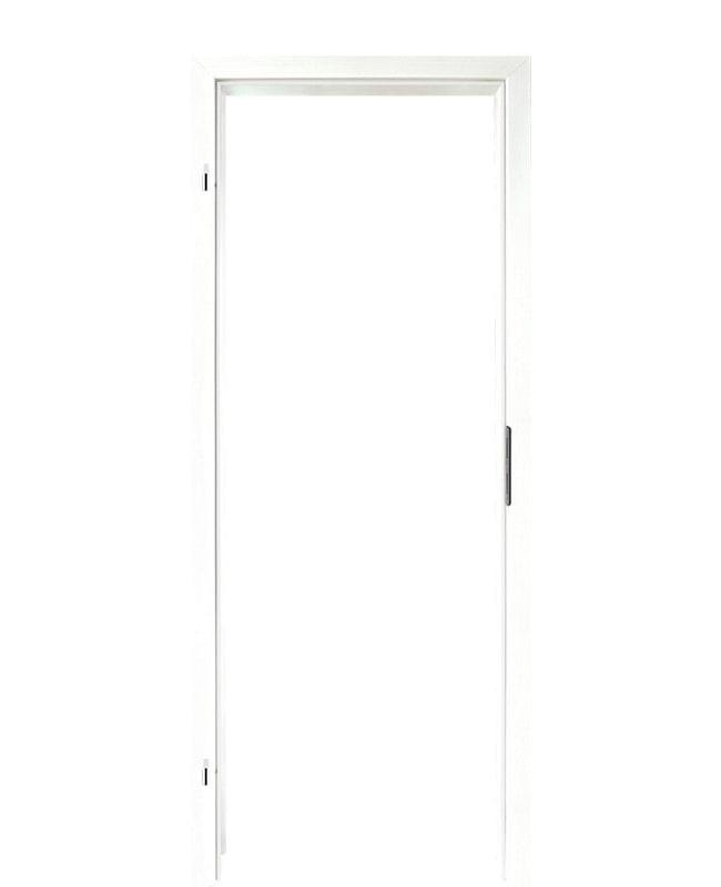 Zimmertür mit Zarge CPL Esche weiß deckend Komplettset Türzarge 60mm ...