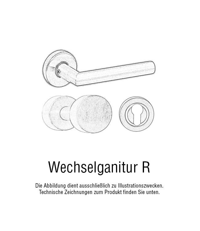 Landhaus-Tuergriff-Keramikgriff-Tuerdruecker-Messing-satininert-Poseidon-rund-weiss