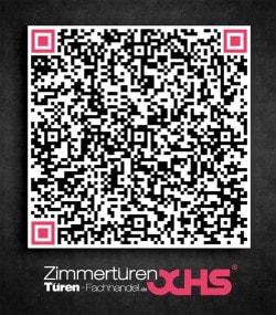Visitenkarte als QR-Code von Zimmertüren OCHS